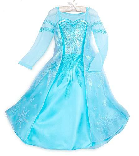DS Disney Store Costume Regina Elsa Frozen Il Regno di Ghiaccio Principessa Bambina Bimba Carnevale 7-8 Anni