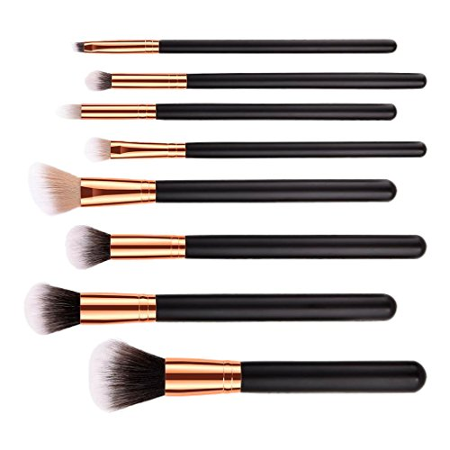 Sharplace Kit Pinceaux Maquillage Brush make-up à Poudre Fond de Teint du Visage/Blush/Fard à Paupières/Lip Liner - Lot de 7pcs/10pcs - 8pcs