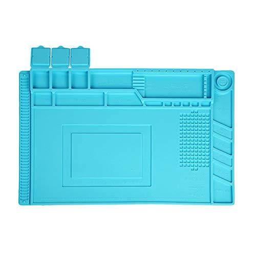Preisvergleich Produktbild iUcar S-160 Magnetische hitzebeständige Lötmatte Lötstation Isolationspad - blau