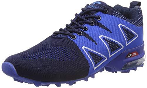 LILY999 Uomo Scarpe da Trekking Leggere Scarpe da Escursionismo Arrampicata All'aperto Sneakers Scarpe da Corsa(Blu,41 EU)