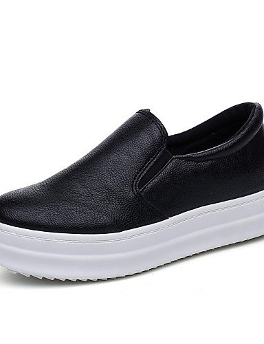 ZQ gyht Scarpe Donna-Mocassini-Casual-Creepers / Punta arrotondata / Chiusa-Plateau-Finta pelle-Nero / Bianco , white-us8.5 / eu39 / uk6.5 / cn40 , white-us8.5 / eu39 / uk6.5 / cn40 white-us6.5-7 / eu37 / uk4.5-5 / cn37