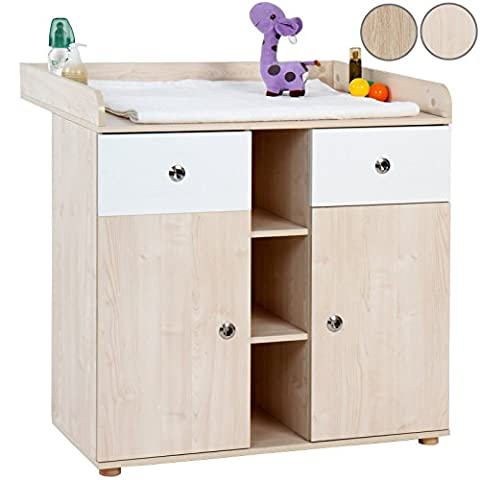 Infantastic Baby's Changing Unit (Beech) Nursery Chest Table Furniture with Large Storage Space