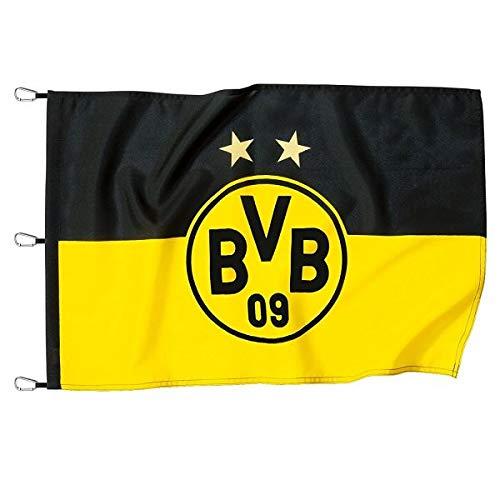 Borussia Dortmund BVB 15131000 Hissfahne mit Logo, Schwarz/Gelb, 150 x 100 x 1 cm