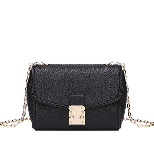 Leder Handtaschen Schulter Diagonalen Beutel Großen Beutel Black