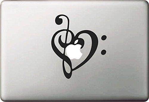 """Vati Blätter Removable kreative Karikatur Liebe des Apple-Aufkleber Aufkleber Skin Art Schwarz für Apple Macbook Pro Air Mac 13 \""""15\"""" Zoll / Unibody 13 \""""15\"""" Zoll-Laptop"""