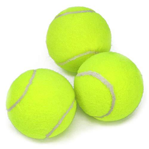 com-four® 3X Tennisball für Outdoor-Sport und Haustier, gelbe Tennisbälle für alle Bodenbeläge, Ø 6,5 cm