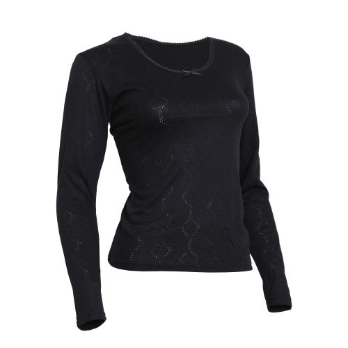 FLOSO – Camiseta térmica interior de manga larga de viscosa para mujer