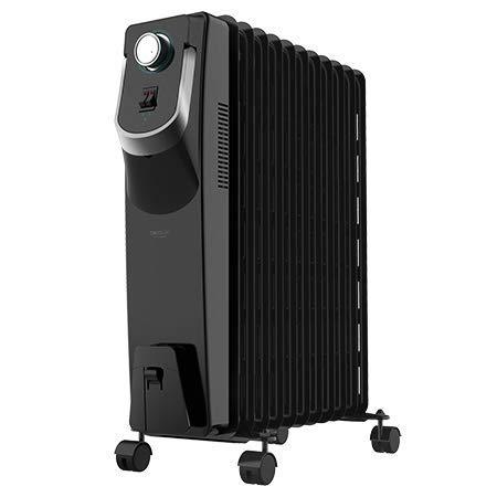 Cecotec Radiador de Aceite Ready Warm 5870 Space 360º. 11 Módulos, Bajo Consumo, Termostato Regulable...