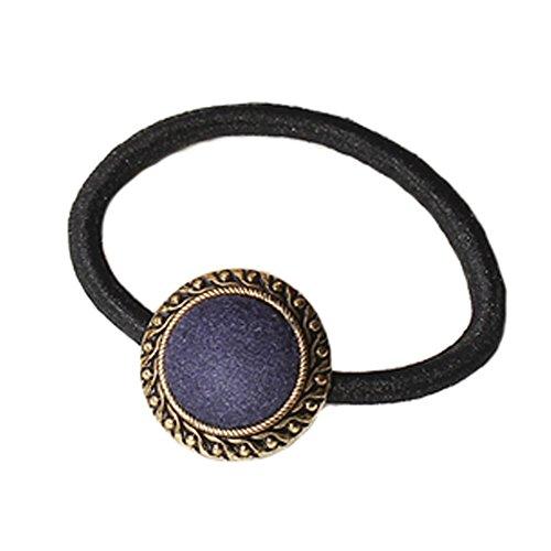 10PCS Vintage Style Cheveux Elastics Cravates Cheveux titulaires de-cheval, Bleu