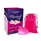 Meelanto Silicone Reusable Menstrual Cup For Ladies, Large - 1 Unit