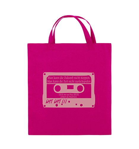 Buste Comiche - Ragazze Morte Non Mentono - Cassetta - Borsa Di Juta - Manico Corto - 38x42cm - Colore: Nero / Rosa Rosa / Rosa