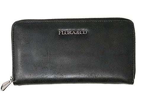 Damen Accessoire Wallet Portemonnaie Damen Geldbörse Geldbeutel Etui (8306) (schwarz)