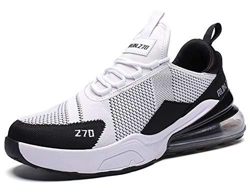 GNEDIAE Uomo Run 270 a Collo Basso Air Scarpe da Ginnastica da, Scarpe da Corsa Casual Sportive Running Fitness Sneakers Bianco 43 EU