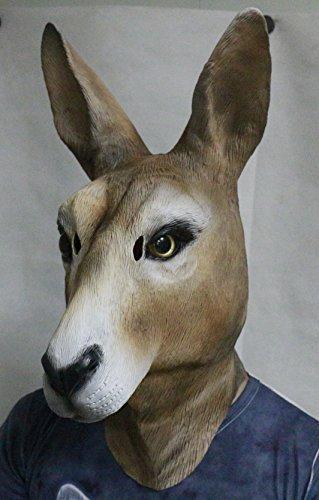 The Rubber Plantation TM 619219293839Känguru Maske Latex Australian -