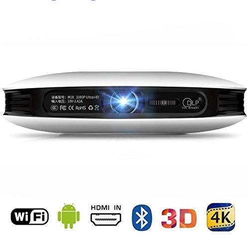 Mengen88 2.4G WiFi-Projektor, 1080p 3D 4K-DLP-Heimkino-Taschenprojektor mit Mobiltelefon-Bildschirm und für eine Vielzahl von Geräteanschlüssen (4k-dlp-projektor)