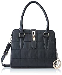 Ladida Ladida Collection Womens Satchel (Black) (2017-6 BLACK)