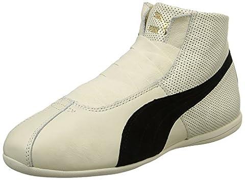 Puma Eskiva Mid, Baskets mode femme - Blanc (Whisper White/Black), 37 EU (4 UK)