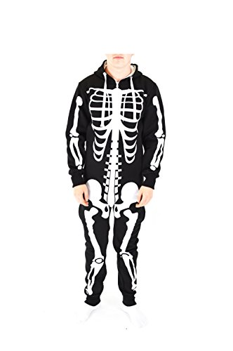 hsener Tier Halloween-Kostüm Unisex All In One Piece-Kostüm (Mittel, Schwarz) ()