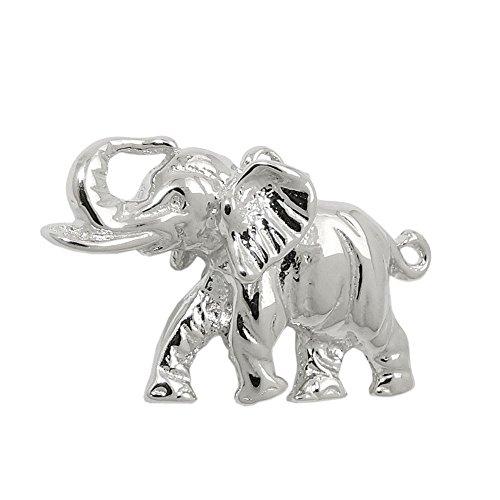 Colgante, Elefant maciza, de plata 925