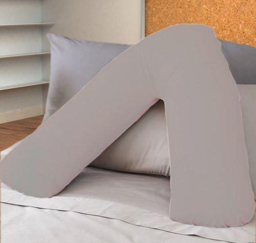 ||jaaz textile|| _ _ plata Color _ _ V forma de almohada casos de percal calidad apoyo polialgodón...