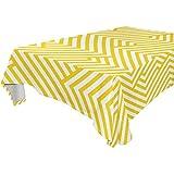 pour Fêtes Mariages Cuisine 54x54 Pouces Rectangulaire Phare Nappe Zigzag Motif Couvercle De Table Tissu À Manger