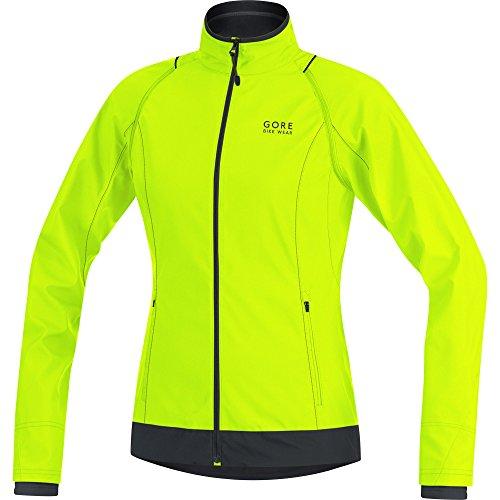 GORE WEAR Damen Element Lady Windstopper Zip-Off Jacke, Neon Gelb/Schwarz, 42 Off Gore Bike
