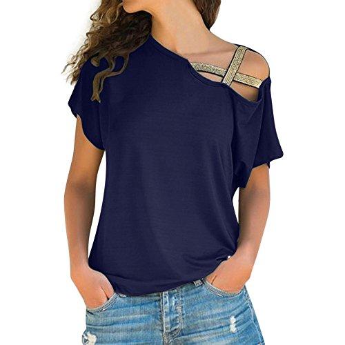 Top de Camiseta de Manga Corta Sin Tirantes para Mujer Blusa de Mujer con Hombros Descubiertos Manga Larga T-Shirt Camiseta Mujer Fiesta Camisetas Dwevkeful