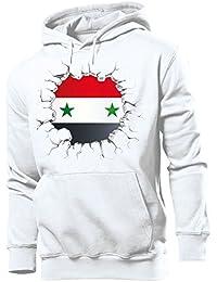 36110c18e6 love-all-my-shirts Fussball Fanhoodie Syrien Männer Herren Hoodie Pulli  Kapuzen Pullover