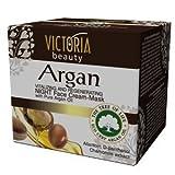 Victoria Beauty - Anti-Falten Nachtmaske mit Arganöl aus Marokko (1 x 50 ml) Gesichtsmaske mit regenerierender und feuchtigkeitsspendender Wirkung - Anti-Aging Maske