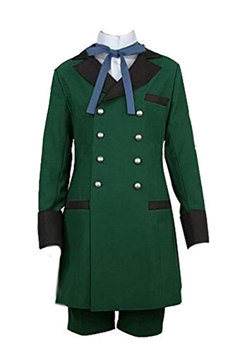 jeylu Black Butler 2II Ciel Phantomhive Cosplay Kostüm Grün Version EU Größe Gr. Weiblich:Small, grün