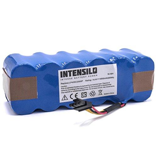 INTENSILO Batería de repuesto para robots aspirador doméstico Ariete AT5186005100 (4500mAh, 14.4V, NiMH)