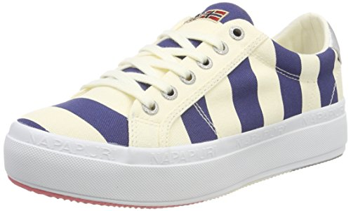NAPAPIJRI FOOTWEAR Damen Astrid Sneaker, Mehrfarbig (Striped Blue), 38 EU