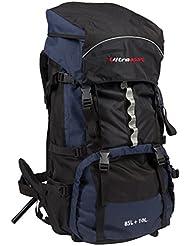 Ultrasport Trekkingrucksack 85+10 l inkl. Regenhülle, blau/schwarz