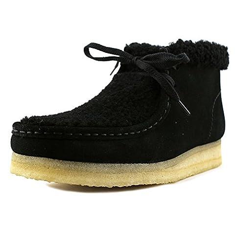 Clarks Originals Wallabee Boot Women US 8 Black Chukka Boot