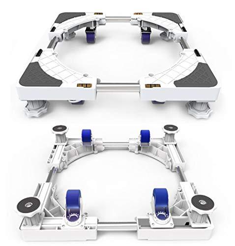 Multifunktionale bewegliche verstellbare Basis - Größe einstellbar Mobiler Universal-Rollwagen für Trockner, Waschmaschine und Kühlschrank,With4feet&4wheels -