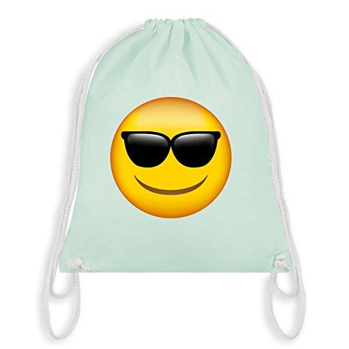 Comic Shirts - Emoji Sonnenbrille - Unisize - Pastell Grün - WM110 - Turnbeutel & Gym Bag