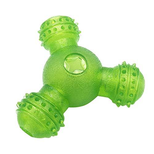 DeYL Haustier Spielzeug Tragbare DREI-Loch-Tumbler Haustier Hund Feeder Leakage Lebensmittel-Dispenser Chew Spielzeug - Grün Depression Tumbler
