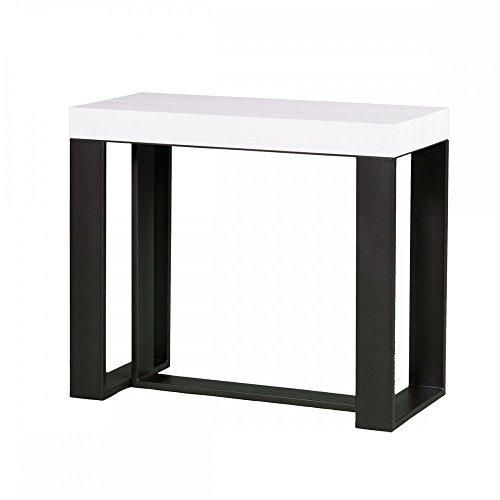 Group design consolle futura tavolo allungabile bianco frassino in legno ingresso pa-co/45-bf