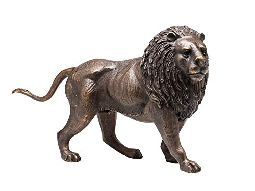 aubaho Bronze Skulptur Figur Löwe Lion Bronzeskulptur Bronzefigur Sculpture 31cm