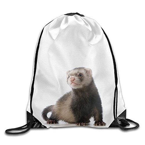 Every Day is Special Cute Ferret Gym Drawstring Backpack Unisex Portable Sack Bag