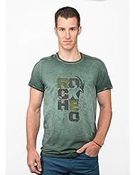 Chillaz Alaro Hero–Camiseta de, Otoño-invierno, hombre, color olive washed, tamaño large