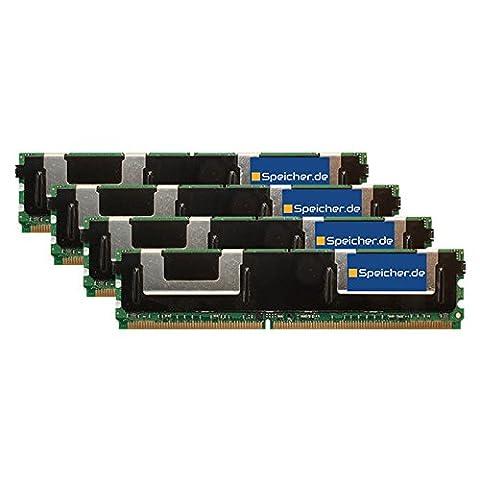 32GB (4x8GB) Kit RAM Speicher für Fujitsu Primergy Econel 200 S2a DDR2 FB DIMM 667MHz PC2-5300F (667 Fb Dimm Kit)