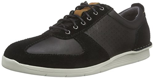 Homens Polysport Up Do Run Brogues Clark Preto Lace preto Derby Combi TxwTPq