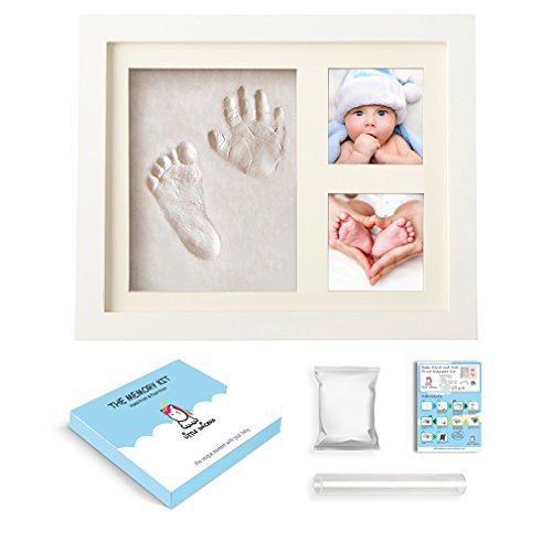 Baby-Hand- und Fußabdruck-Set, Baby-Bilderrahmen, natürliche, ungiftige Materialien wie aus Mais...