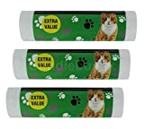 90 Cat Litter Tray/Box Liners Disposable Bags Strong Large Clean White 70cm x