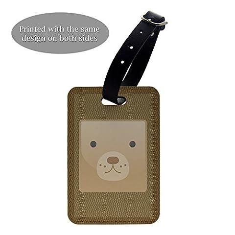 Bär Face Print Design Gepäck Koffer Gepäck Tag–P189