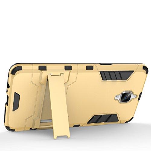 YHUISEN Tough-Art Hybrid Dual Layer Rüstung Defender PC Hard Cases Neue 2 in 1 Eisen-Rüstung mit Ständer Stoß- Fall für Huawei Honor 8 OnePlus 3 LG X Power ( Color : Gold , Size : Huawei Honor 8 ) Gray