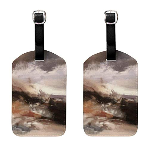 Kofferanhänger Abstract Painting Art Travel Bag ID Card Label Tag PU Leather for Baggage Suitcase(2Pack) 89tAGS890 -