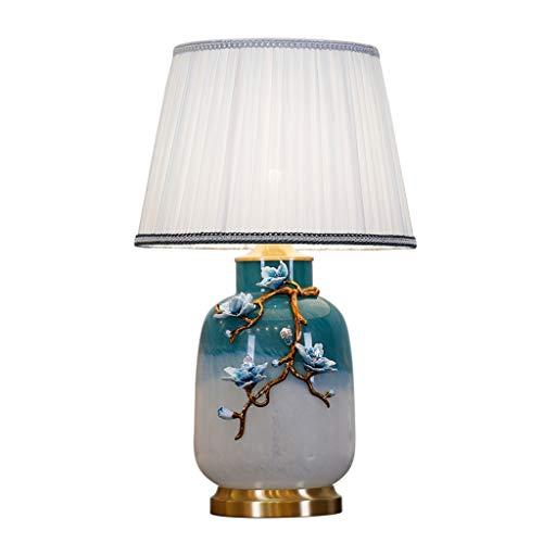Lampes de table Chambre À Coucher Tous Les Émaux De Cuivre Villa Européenne Haute Qualité Lampe De Chevet Rétro Lumière Luxe Créatif Romantique