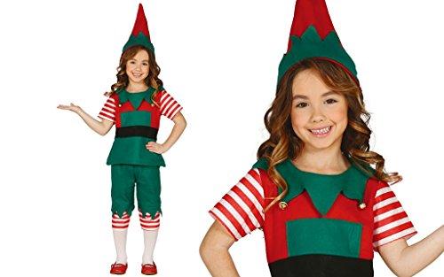 Costume da elfa bambino folletto elfo 5-6 anni